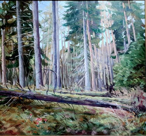 «Шишкин лес» Холст, масло, 80х90.