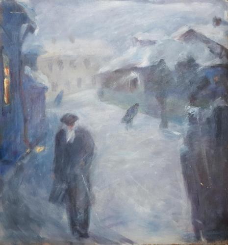 «Одиночество» Картон, масло, 70х70